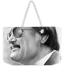 Hayden Fry Weekender Tote Bag by Greg Joens