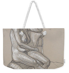 Weekender Tote Bag featuring the drawing Haydyn Seated by Donelli  DiMaria