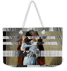 Hayes's The Kiss And Vivien Leigh With Clark Gable Weekender Tote Bag by Luigi Tarini
