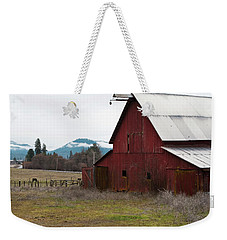 Hayfork Red Barn Weekender Tote Bag