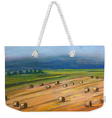 Haying On Annapolis Royal Dykes Weekender Tote Bag by Rae  Smith
