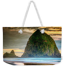 Haystack At Sunset Weekender Tote Bag