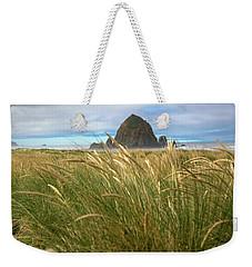 Haystack Rock And Beach Grass Weekender Tote Bag