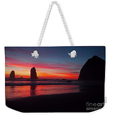 Haystack Rock At Sunset 2 Weekender Tote Bag