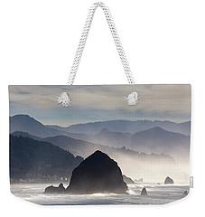 Haystack Rock On The Oregon Coast In Cannon Beach Weekender Tote Bag