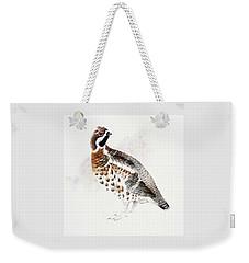 Hazel Grouse Weekender Tote Bag