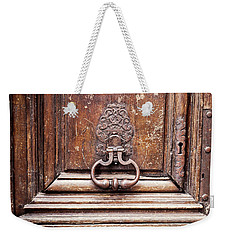 Weekender Tote Bag featuring the photograph Hazel - Paris Door Photography by Melanie Alexandra Price