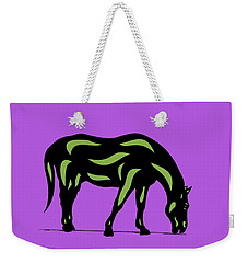 Hazel - Pop Art Horse - Black, Greenery, Purple Weekender Tote Bag