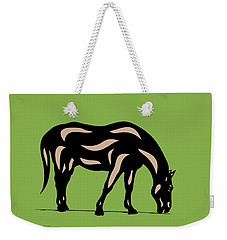 Hazel - Pop Art Horse - Black, Hazelnut, Greenery Weekender Tote Bag