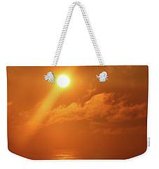 Hazy Orange Sunrise On The Jersey Shore Weekender Tote Bag