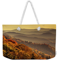 Hazy Sunny Layers In The Smoky Mountains Weekender Tote Bag by Teri Virbickis