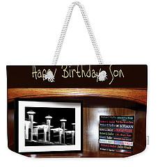 Happy Birthday, Son Weekender Tote Bag