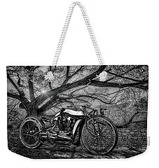 Weekender Tote Bag featuring the photograph Hd Cafe Racer  by Louis Ferreira