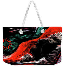 Weekender Tote Bag featuring the painting He Is Who He Is by Sherri Of Palm Springs