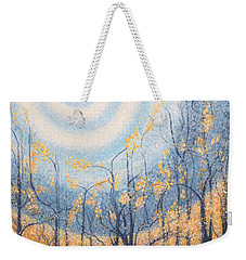 Weekender Tote Bag featuring the painting He Lights The Way In The Darkness by Holly Carmichael
