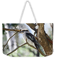 Weekender Tote Bag featuring the photograph He Sings The Song Of The Bush by Linda Lees