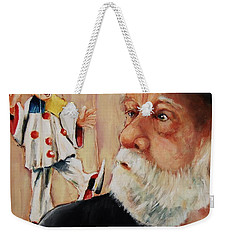 He Was Always Looking Over His Shoulder Weekender Tote Bag