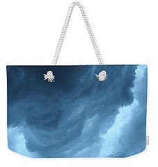 Weekender Tote Bag featuring the photograph Head For Cover by Angie Rea