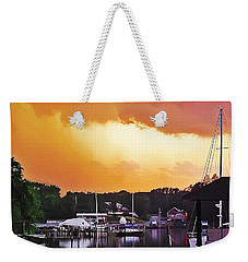 Weekender Tote Bag featuring the photograph Head For Safety by Brian Wallace