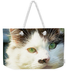 Head Of Cat Weekender Tote Bag