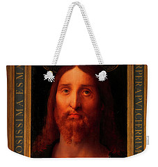 Weekender Tote Bag featuring the painting Head Of Christ                                   by Fernando De La Almedina