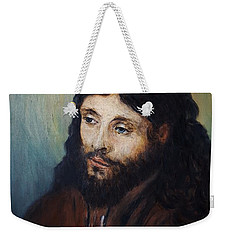 Head Of Christ After Rembrandt Weekender Tote Bag