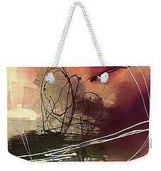 Weekender Tote Bag featuring the painting Head Of Psychology Rose by Tatiana Iliina