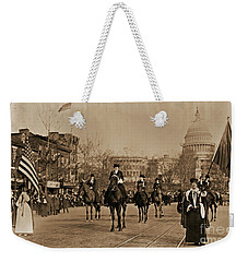 Head Of Washington D.c. Suffrage Parade Weekender Tote Bag by Padre Art