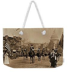 Head Of Washington D.c. Suffrage Parade Weekender Tote Bag