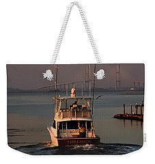 Weekender Tote Bag featuring the photograph Headin' South by Laura Ragland