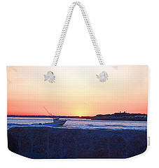 Weekender Tote Bag featuring the photograph Heading Out by  Newwwman