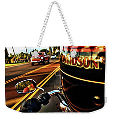 Heading Out On Harley Weekender Tote Bag