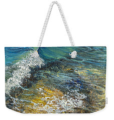 Weekender Tote Bag featuring the painting Heading Out To Sea by Darice Machel McGuire