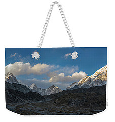 Weekender Tote Bag featuring the photograph Heading To Everest Base Camp by Mike Reid