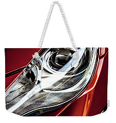 Weekender Tote Bag featuring the photograph Headlight by Eric Christopher Jackson