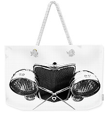 Weekender Tote Bag featuring the photograph Headlights by Stephen Mitchell