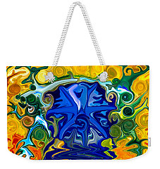 Weekender Tote Bag featuring the painting Headwaters by Omaste Witkowski