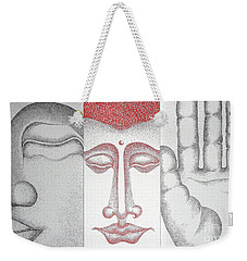 Weekender Tote Bag featuring the painting Healing by Fei A