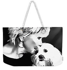 Weekender Tote Bag featuring the digital art Healing by Kathy Tarochione