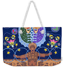 Weekender Tote Bag featuring the painting Healing - Nanatawihowin by Chholing Taha