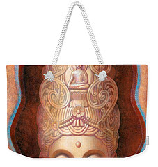 Weekender Tote Bag featuring the painting Healing Tara by Sue Halstenberg