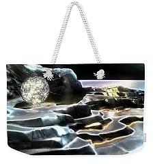 Weekender Tote Bag featuring the digital art Healing Waters by Pennie  McCracken