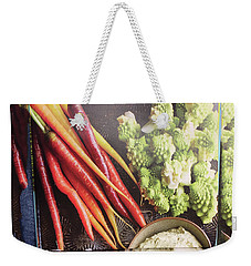 Weekender Tote Bag featuring the photograph Healthy Food Veggie Salad Kitchen Chef Cuisine Birthday Christmas Festivals Mom Dad Festivals Sister by Navin Joshi