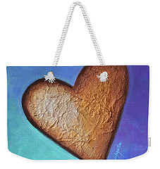 Weekender Tote Bag featuring the painting Heart by Agata Lindquist