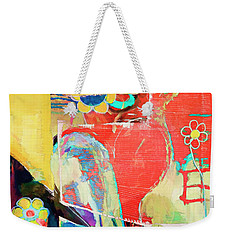 Heart And Flowers Weekender Tote Bag by Susan Stone