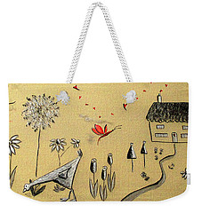 Heart Cottage Red 2 Weekender Tote Bag