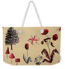 Heart Cottage Red 3 Weekender Tote Bag
