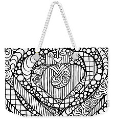 Heart Crown Tangle Weekender Tote Bag