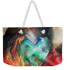Weekender Tote Bag featuring the digital art Heart Deep by Linda Sannuti