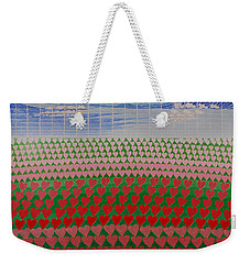 Heart Fields Weekender Tote Bag